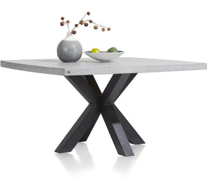 Habufa Maestro and Maitre Concrete Tables With Metal or Oak Legs-Dining Tables-Against The Grain Furniture-110x130cm-Metal-Against The Grain Furniture