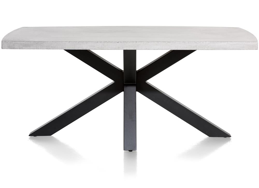 Habufa Maestro and Maitre Concrete Tables With Metal or Oak Legs-Dining Tables-Against The Grain Furniture-130x130cm-Metal-Against The Grain Furniture