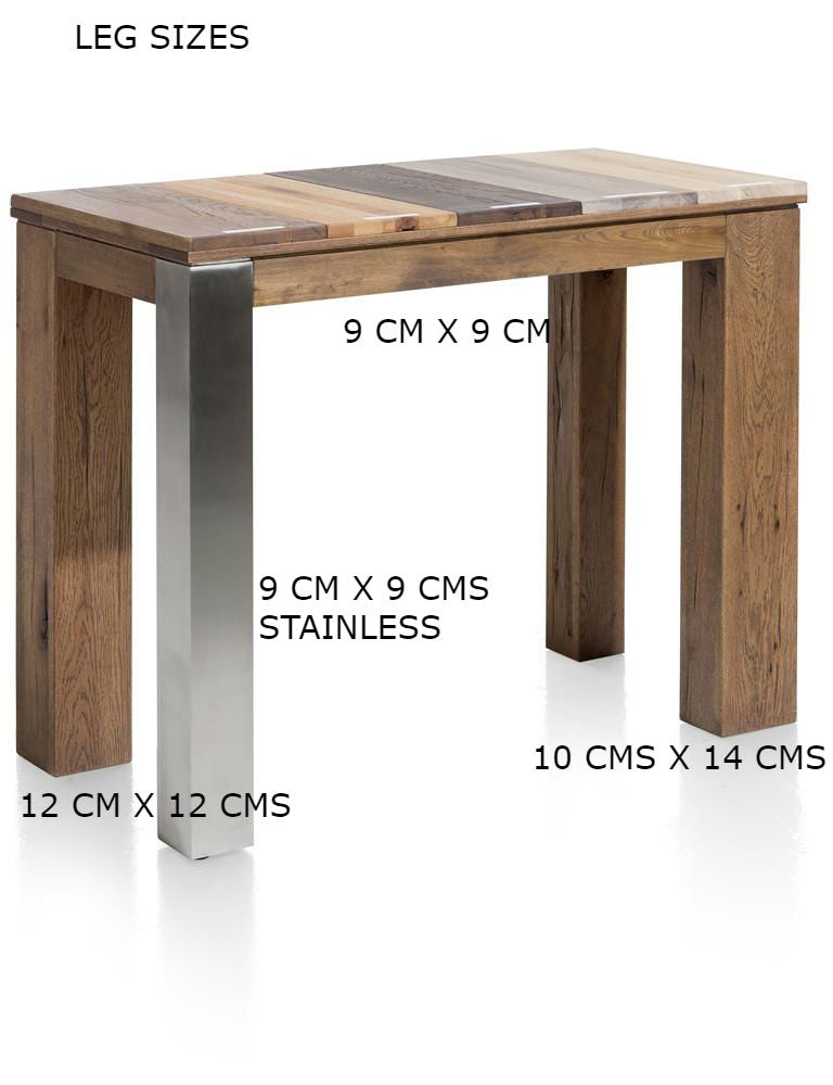 Masters Bespoke Small Fixed Top Tables in Solid Oak-fixed top table-Against The Grain Furniture-Against The Grain Furniture