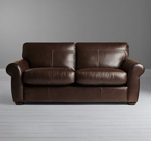 Discontinued Fabrics and Leathers on Madison sofas-Sofas-john lewis-Medium Sofa 187 cm-Brown Semi Aniline-Against The Grain Furniture