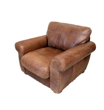 Discontinued Fabrics and Leathers on Madison sofas-Sofas-john lewis-Chair 103 cm-Tan Semi Aniline-Against The Grain Furniture