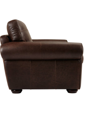 Discontinued Fabrics and Leathers on Madison sofas-Sofas-john lewis-Snuggler 128cm-Brown Semi Aniline-Against The Grain Furniture