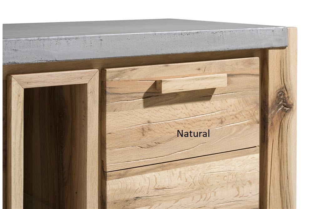 Habufa Maestro and Maitre Lowboard TV Media Cabinets-Lowboard TV cabinets-Against The Grain Furniture-Natural-140-Concrete-Against The Grain Furniture