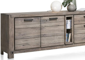 Habufa Maestro and Maitre Sideboards-oak sideboard-Against The Grain Furniture-240-Grey Plumb-Wood top-Against The Grain Furniture
