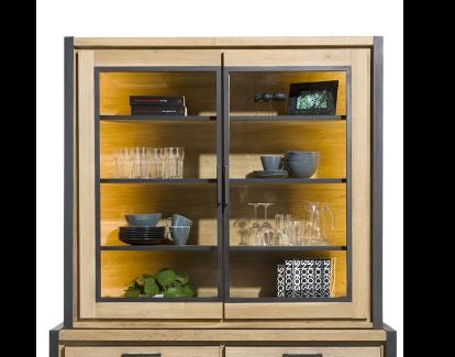 Habufa Metalox Glass Storage Hall Cabinet