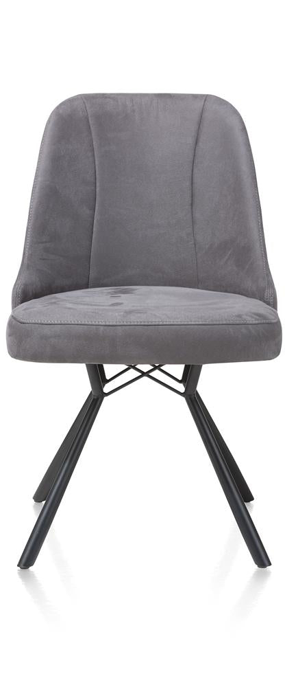 Habufa Eefje Dining Chairs-[Habufa Detroit]-[Furniture Village Detroit]-Anthracite-Against The Grain Furniture
