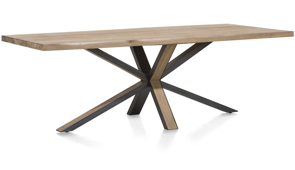 Habufa Brooklyn Ovada Starburst Dining Table-Dining Tables-Detroit-Against The Grain Furniture