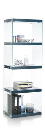 Habufa Lurano Glass Bookcase