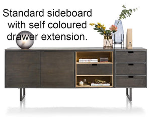 Habufa Moniz Sideboards in Smoked Acacia Wood