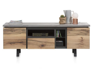 Habufa Myland TV Media Lowboard-TV lowboards-Against The Grain Furniture-1.60-Concrete-Against The Grain Furniture