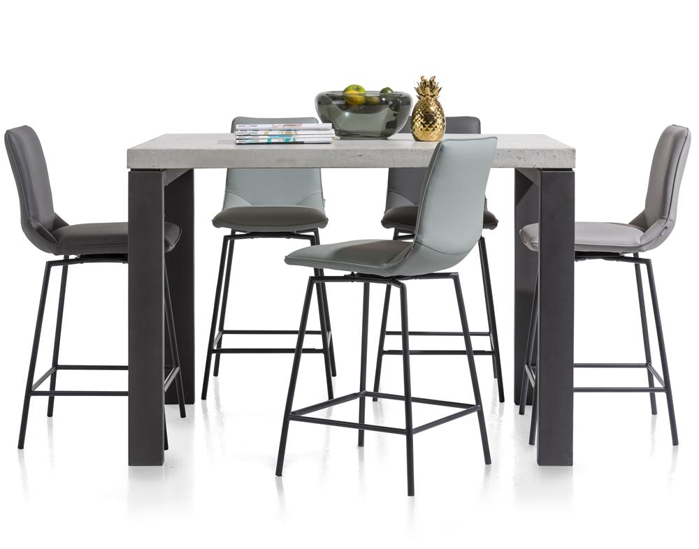 Habufa Davy/Boston Bar Stools-[Habufa Boston]-[Furniture Village Boston]-Anthracite/Black Legs-Against The Grain Furniture