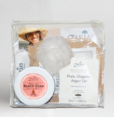 Argan Oil Bath & Body Gift Set - Rose Blossom