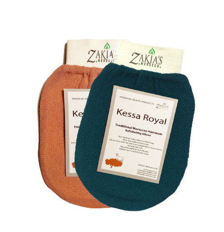 2 Kessa Exfoliating Mitts -1  Rough & 1 Smooth