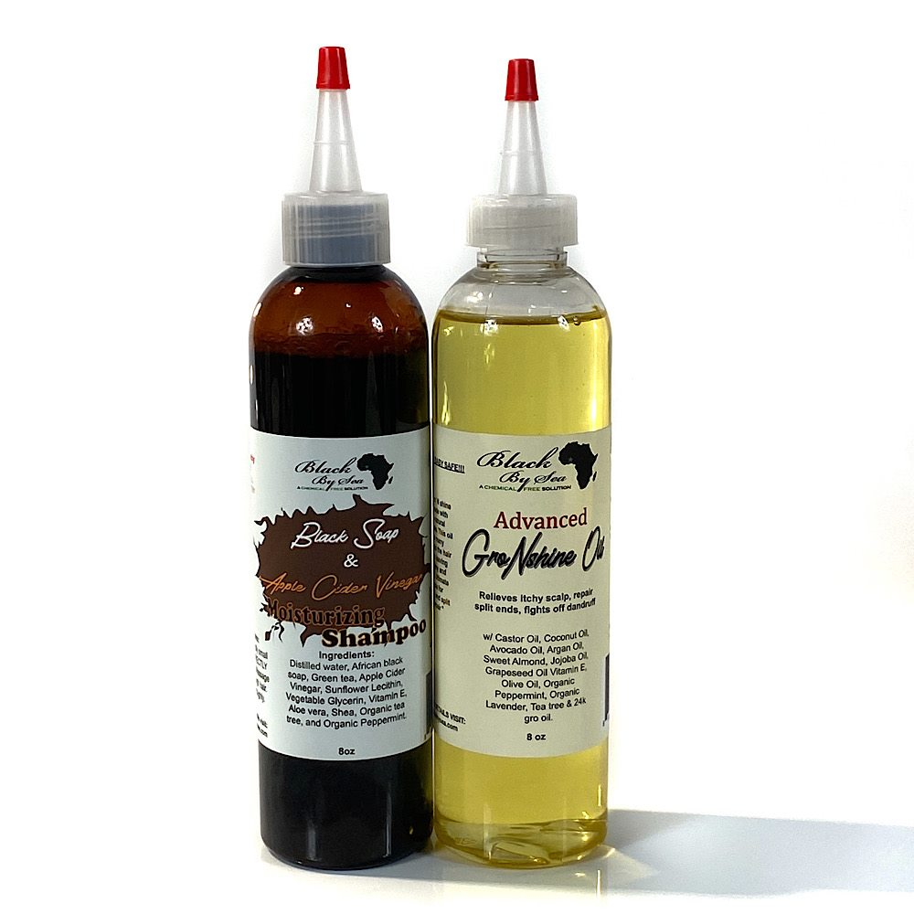 Shampoo and Hair Oil Bundle - Blackbysea
