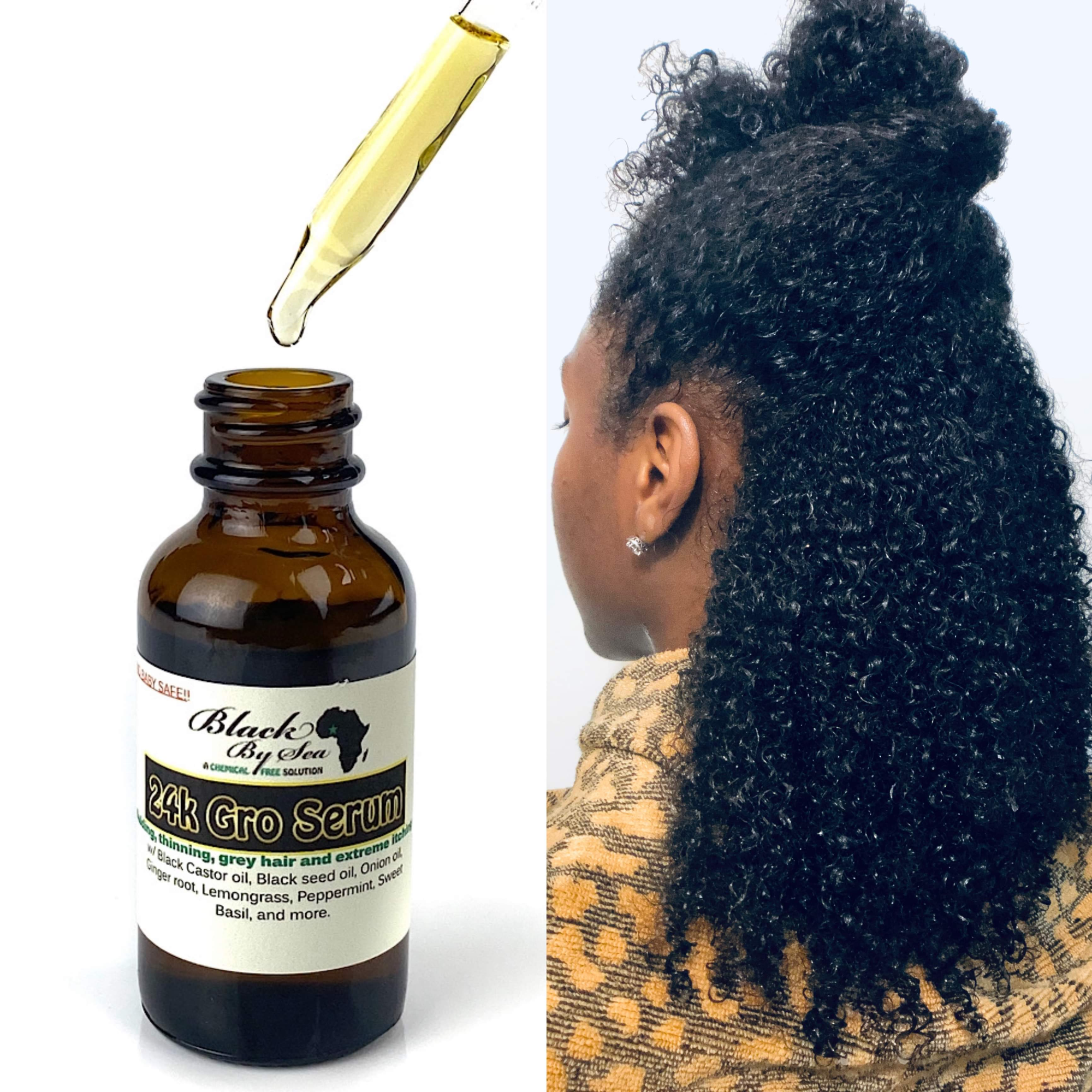 24K Gro Serum Thinning and Hair Loss Treatment - Blackbysea