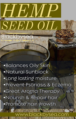 Natural Hempseed Oil - Blackbysea