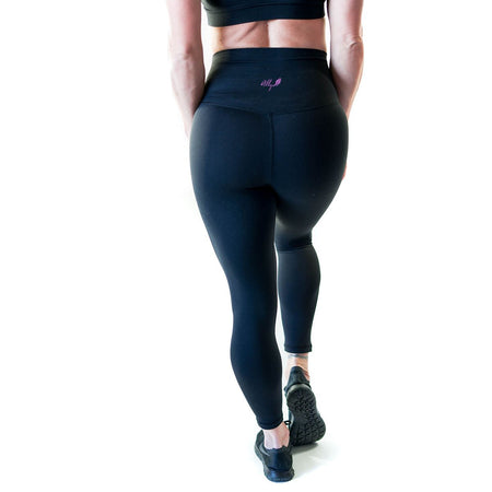 ALLY COLLECTION WMNS HIGH WAIST TIGHTS - BLACK