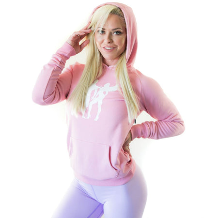 ALLY COLLECTION WMNS HOODIE - PINK