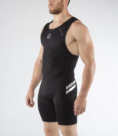 Au12 | BioCeramic™ ELEVATE II Weightlifting Singlet | Black/Silver
