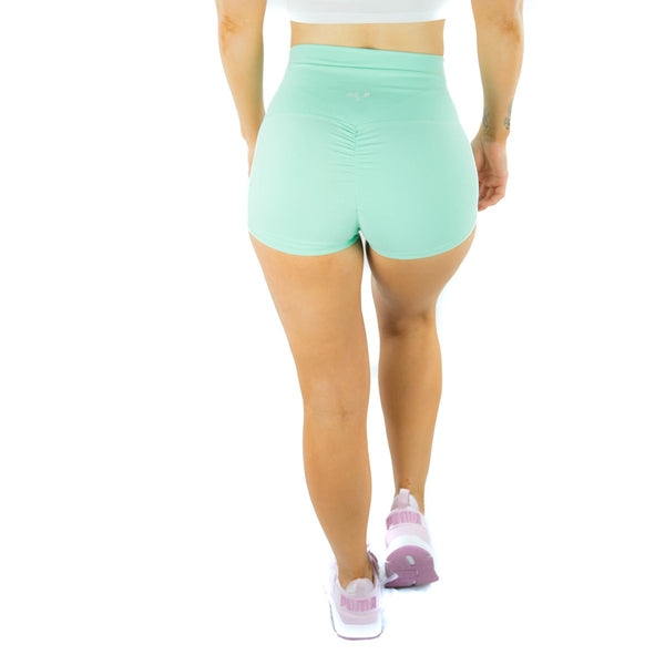ALLY COLLECTION WMNS SCRUNCH BUM BOOTY SHORTS - TEAL