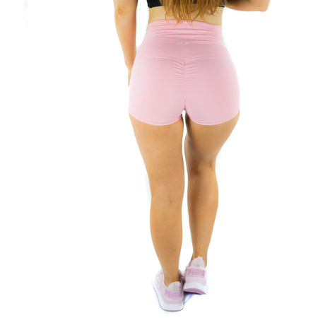 ALLY COLLECTION WMNS SCRUNCH BUM BOOTY SHORTS - PINK