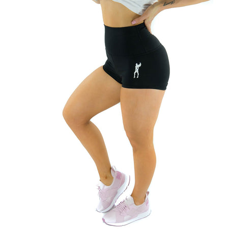ALLY COLLECTION WMNS SCRUNCH BUM BOOTY SHORTS - BLACK
