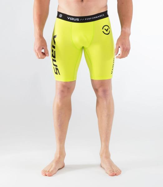 Co14.5 | CoolJade™ Compression Shorts | Lime Punch