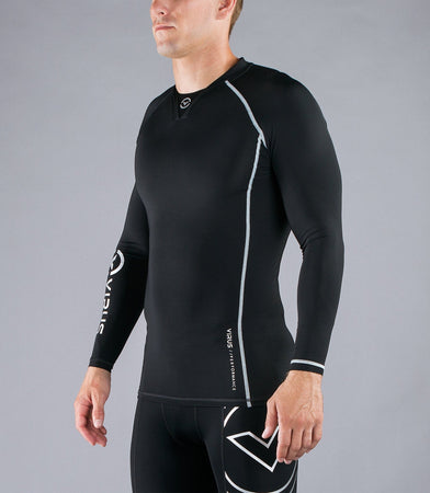 Co6 | CoolJade™ Long Sleeve Compression Top | Black