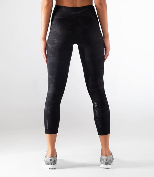 EAu28 | Bioceramic™ 7/8th Length Compression Leggings | Black Camo