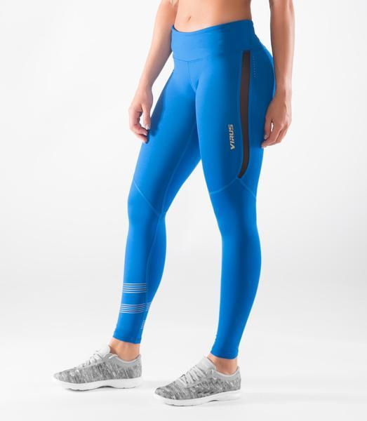 EAu33 | BioCeramic™ MESH Compression Leggings | Blue