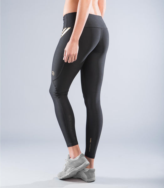 EAu7 | BioCeramic™ Compression Leggings | Black/Gold