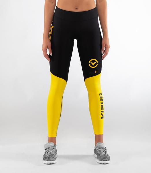 ECo21.5 | CoolJade™ V2 Compression Leggings | Black/Lemon