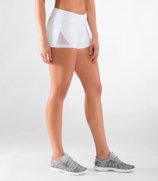 ECo22.5 | CoolJade™ DATA MESH Compression Shorts | White/Black