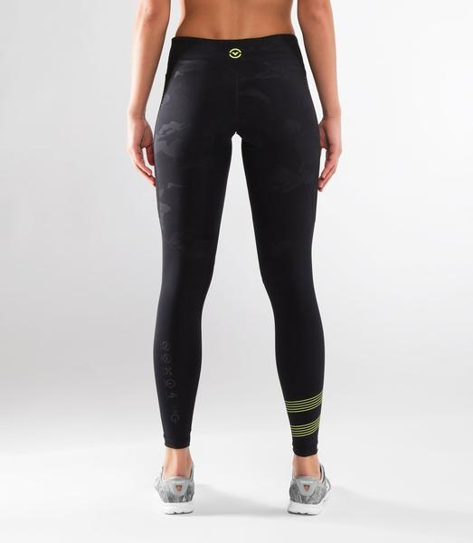 ECo33 | CoolJade™ MESH Compression Leggings | Black Camo/Black