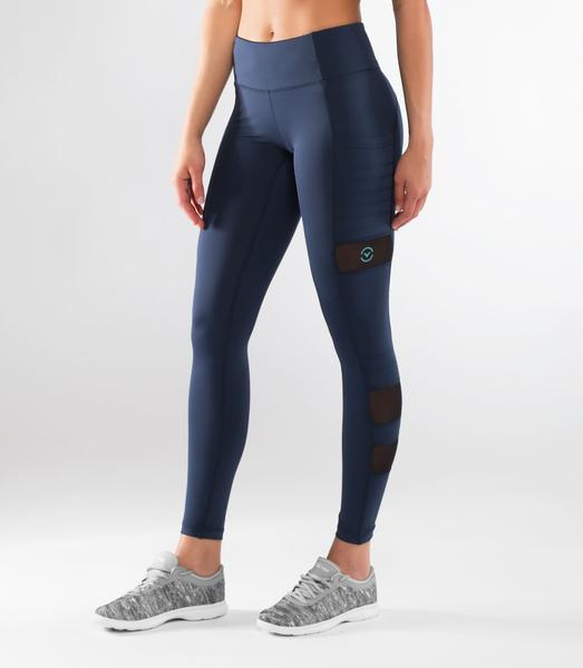 ECo40 | CoolJade™ ZEPU MESH Compression Leggings | Navy
