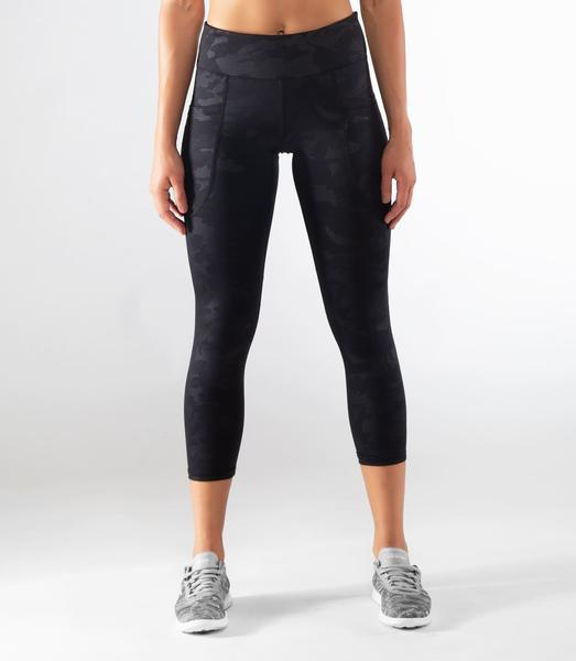 ECo53 | CoolJade™ LUX 7/8 Compression Leggings | Black Camo