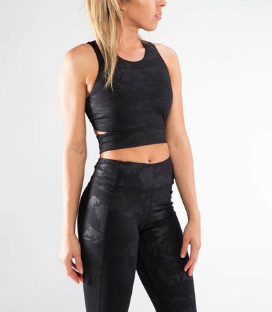 ECo54 | CoolJade™ ACE Sports Bra | Black Camo