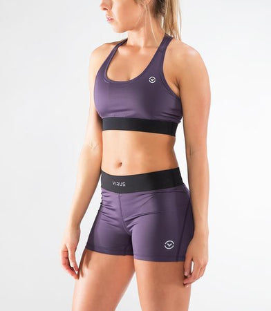 ECo55 | CoolJade™ RAVEN Sports Bra | Night Shade