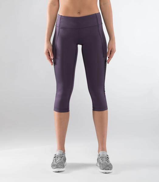 ECo57 | CoolJade™ ECHO Crop Compression Leggings | Night Shade/Black