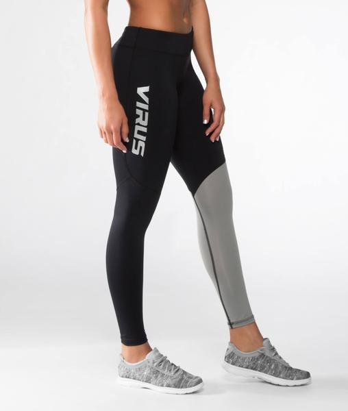 ECo21 | CoolJade™ V2 Compression Leggings | Black/Silver