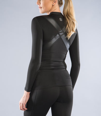 ESio5X | CoffeeChar™ thermal X-Form Compression Top | Black