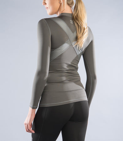 ESio5X | CoffeeChar™ thermal X-Form Compression Top | Grey