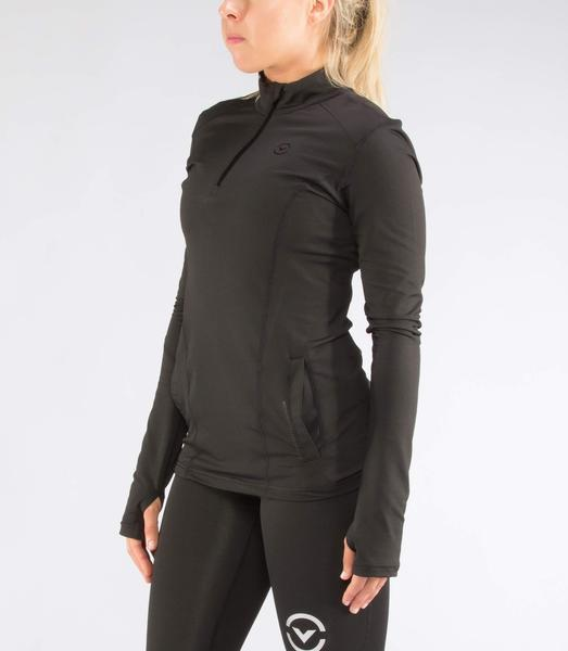 ESio11 | CoffeeChar™ thermal Half Zip Jacket | Black