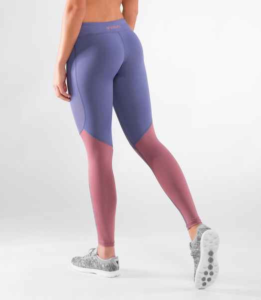 ECo21.5 | CoolJade™ V2 Compression Leggings | Indigo/Rose Brown
