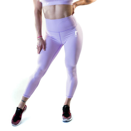 ALLY COLLECTION WMNS HIGH WAIST TIGHTS - LAVENDER