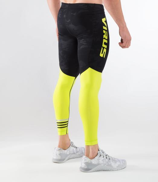 RX8.5 | CoolJade™ Compression Pants | Black Camo/Lime Punch