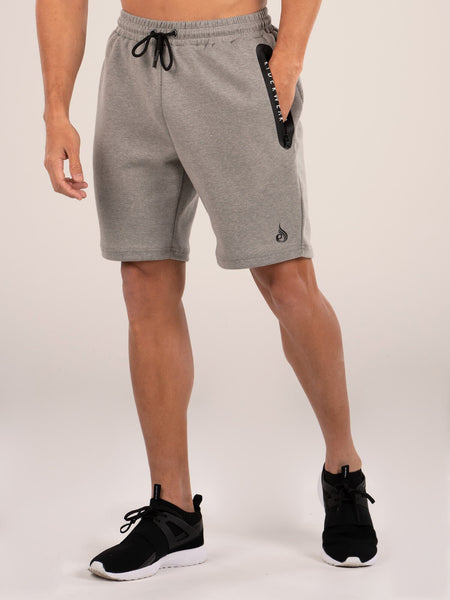 Armour Track Shorts - Grey Marle