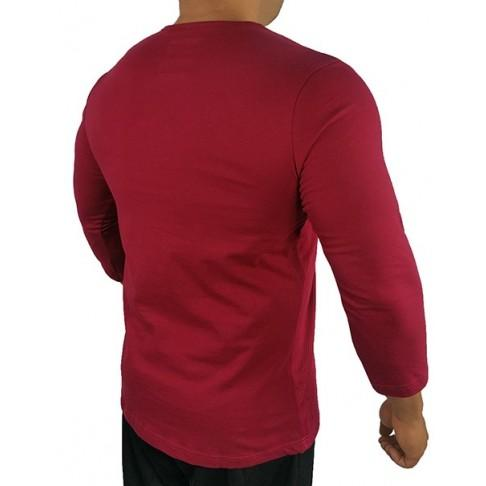 3/4 Athletic Tee - Burgundy