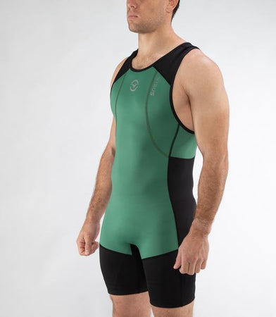 Au27 | Ascend Weightlifting Singlet | Hunter Green/Black