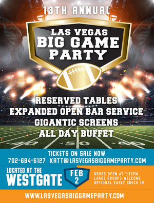 Las Vegas Big Game Party - Sin City VIP